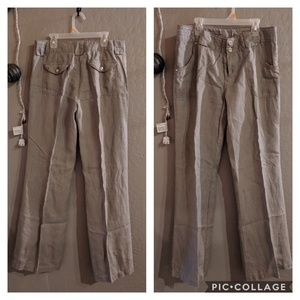 Taupe Linen Pants
